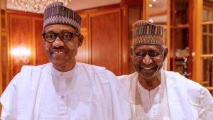 Buhari and Kyari 300x169 - NSA Monguno Clashes With Buhari's Chief of Staff, Abba Kyari Over National Security