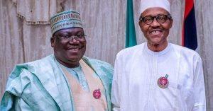 Buhari and Lawan 300x157 - Lawan Speaks On Senate Fighting Buhari Over Insecurity