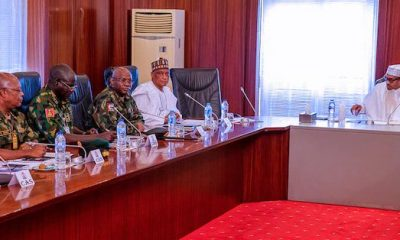 Just In: Buhari In Closed-Door Meeting With Governors, Security Chiefs