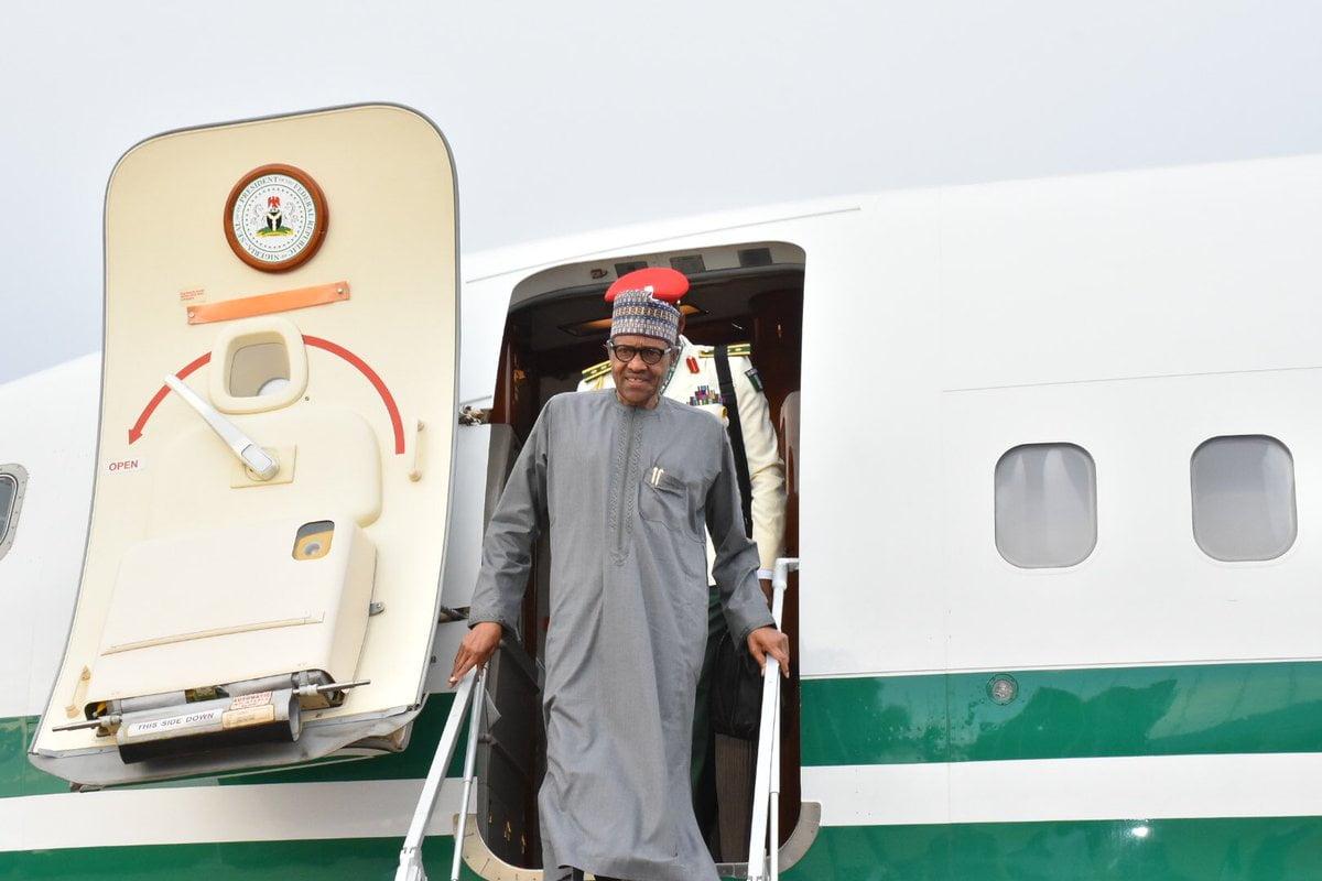 Buhari arrives in Japan