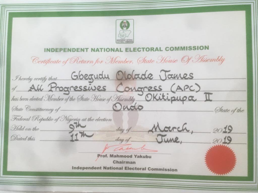 INEC3 - Why INEC Withdrew Certificate Of Return From Serving Ondo Lawmaker