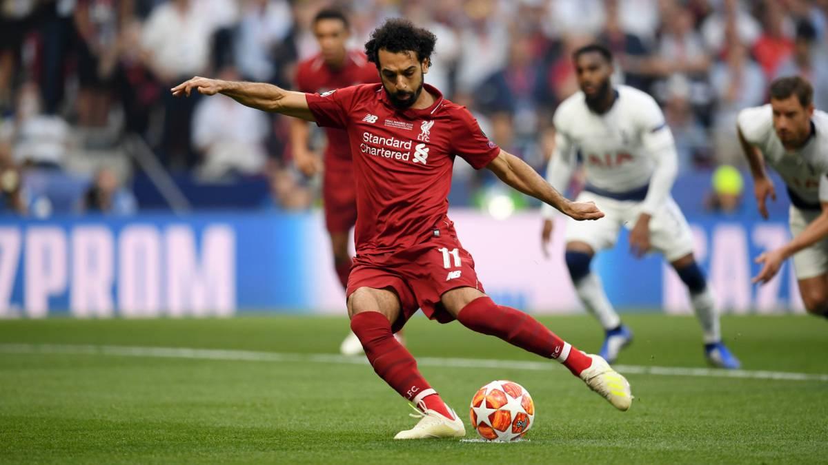 Mohammed salah scores for liverpool