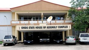 Ondo Assembly 300x169 - Ondo Lawmakers Blocked From Entering House Of Assembly (Photos)
