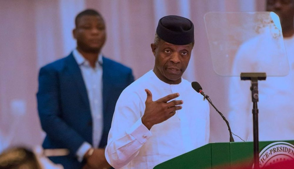 Osinbajo speaks 2 1000x576 - Osinbajo Visits Pa Fasoranti, Promises To Secure Highways