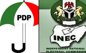 PDP and INEC 300x185 - INEC Vows To Cancel Edo & Ondo 2020 Elections If…