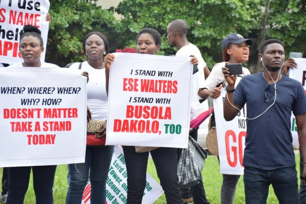 Protest against COZA 1024x683 1 1024x683 - Photo News: Protesters Storm COZA Lagos, Abuja