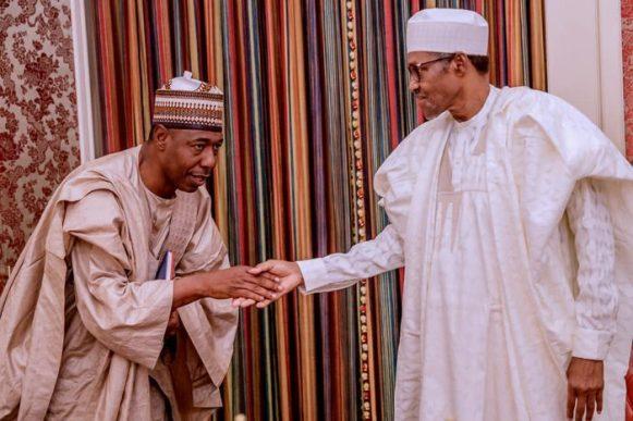 Zulum - Buhari Receives Abiodun, Zulum In Abuja (Photos)