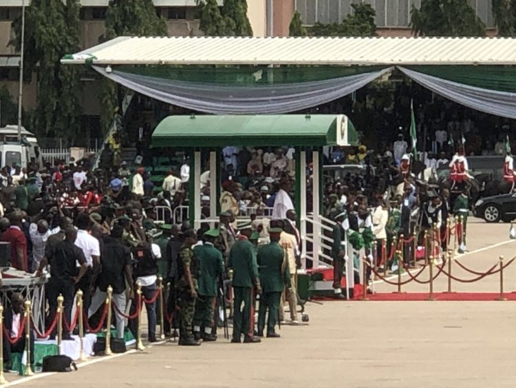 buhari - Democracy Day Celebration Begins In Grand Style As President Muhammadu Buhari Arrives (Pics)