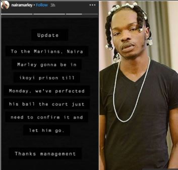 naira marley s management reveal rapper will remain in ikoyi prison till monday say bail has been met - Naira Marley Set To Be Released On Monday – Management