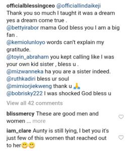 thanks for the support blessing okoro appreciates bobrisky linda ikeji kemi olunloyo and others 258x300 - Blessing Okoro Appreciates Bobrisky, Linda Ikeji, Kemi Olunloyo For Their Support