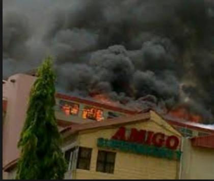 AMIGO - Fire Guts Popular Supermarket In Abuja