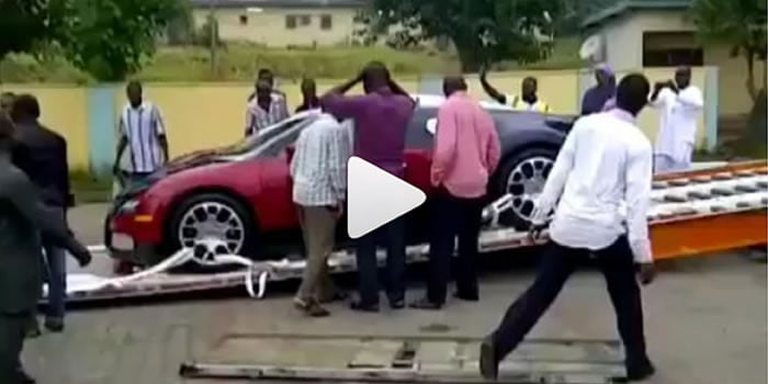 Bugati - World Most Expensive Car Spotted In Nigeria