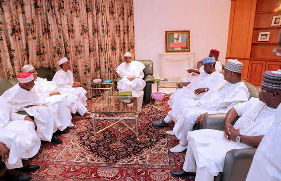 Buhari and northern govs 928x600 - The Four Witness Account Of Northern Vital Interest By Jack Amaso