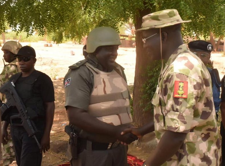 Dauda Fika with General Buratai - How 'super' Cop Shot By Troops Sold Family House, Entire Belongings For Treatment Abroad
