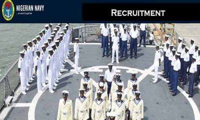 Nigerian Navy Recruitment: Full List Of Shortlisted Candidates For DSSC Test