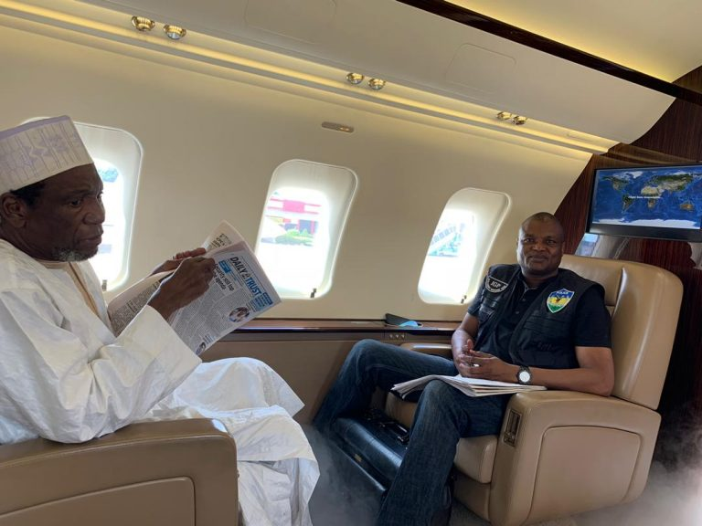 Rescued Daura 4 768x576 - Buhari's ADC Welcomes Father-In Law After 5 Months Of Kidnap (Photos)