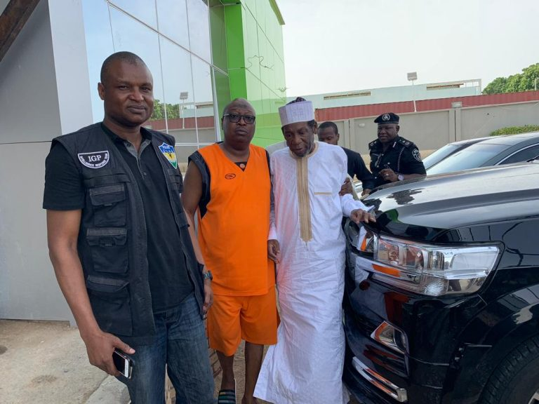 Rescued Daura Monarch2 768x576 - Buhari's ADC Welcomes Father-In Law After 5 Months Of Kidnap (Photos)