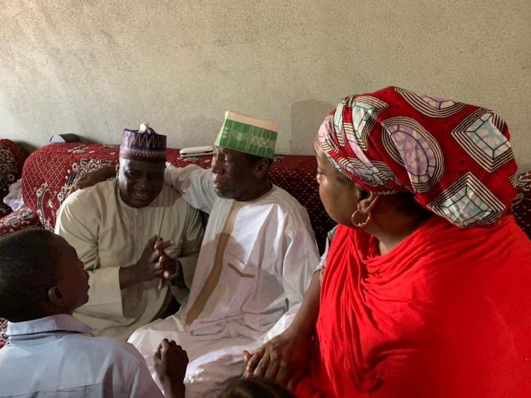 Rescued Daura Monarch3 768x576 - Buhari's ADC Welcomes Father-In Law After 5 Months Of Kidnap (Photos)