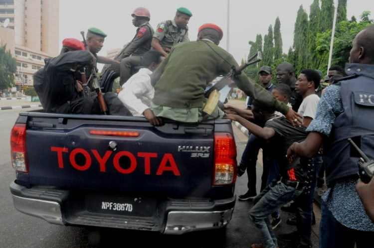 SHITTE. 8 750x498 - Pictures: Police Arrest Shi'ite Members After Protest And Clash In Lagos