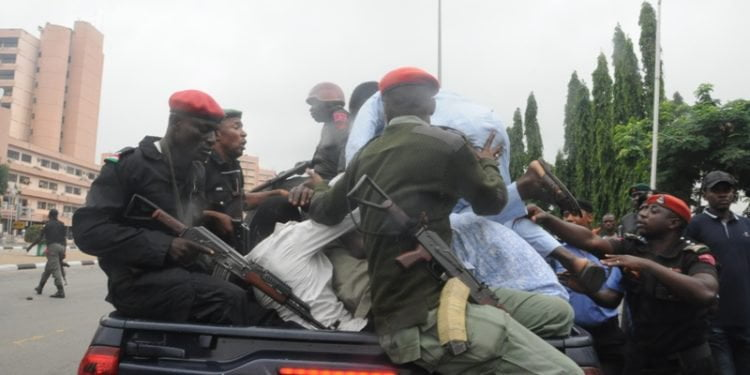 SHITTE. ZAA 750x375 - Pictures: Police Arrest Shi'ite Members After Protest And Clash In Lagos