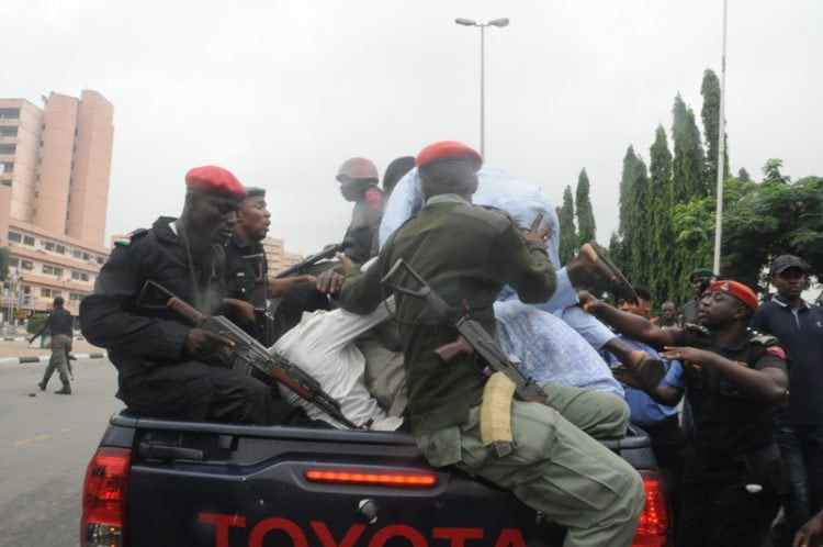 SHITTE. ZAA 750x498 - Pictures: Police Arrest Shi'ite Members After Protest And Clash In Lagos