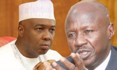 Saraki Speaks On Fighting EFCC, Magu Begging Him