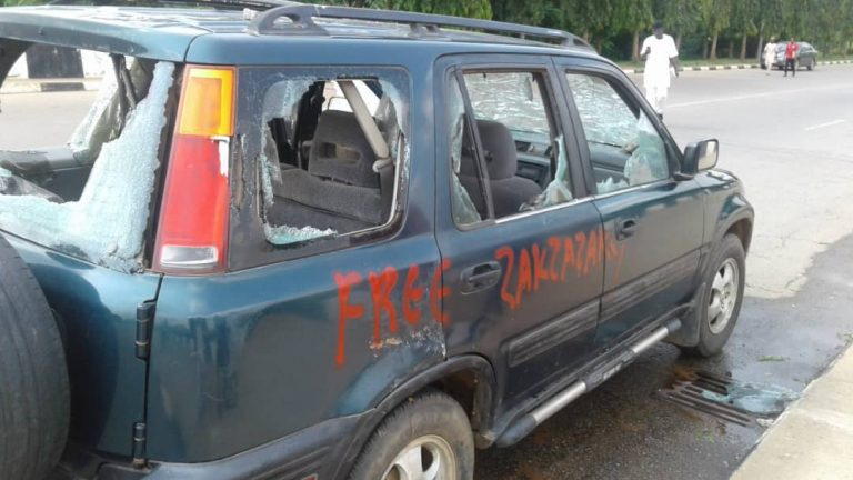 Shiites attack NASS3 768x432 - How Shi'ites Stormed National Assembly, Destroy Cars, Offices