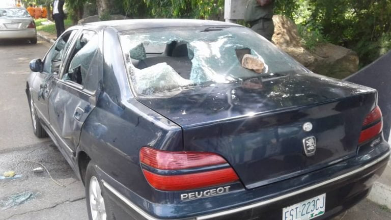 Shiites attack NASS5 768x432 - How Shi'ites Stormed National Assembly, Destroy Cars, Offices