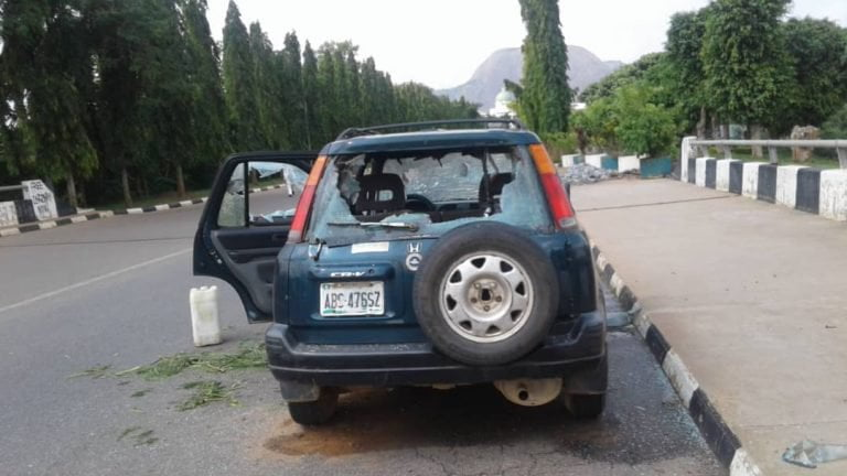 Shiites attack NASS6 768x432 - How Shi'ites Stormed National Assembly, Destroy Cars, Offices