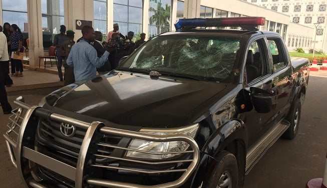 Shiites - Shiite Protesters Storm National Assembly complex, Set Cars Ablaze