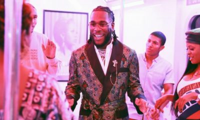 Artist Burna Boy on the sidelines of the BET Awards ceremony in Los Angeles. © Rich Fury / Getty Images for BET / AFP