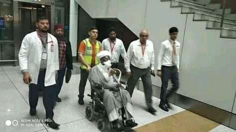 El Zakzaky1 - Just In: El-Zakzaky Arrives India (Pictures)