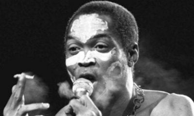 Fela Anikulapo Ransome-Kuti at a concert in Paris on September 13, 1986 © Laurent Rebours / AP / SIPA