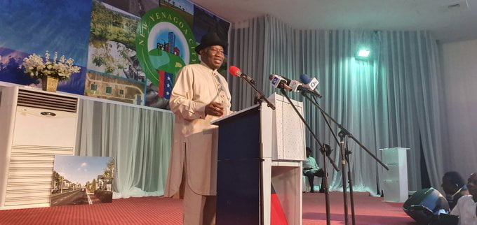 What Goodluck Jonathan Said At Launch Of New Yenagoa City
