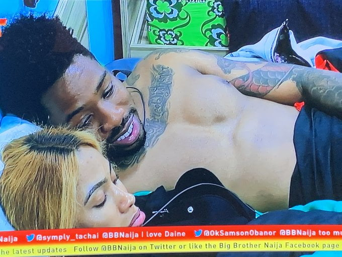 BBNaija: Watch Ike And Mercy Hot Romance