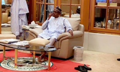 Nigeria Buhari cleaning his teeth, creates controversy on Twitter