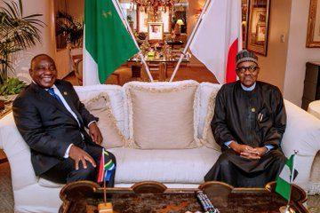 President Buhari with President Ramaphosa of South Africa