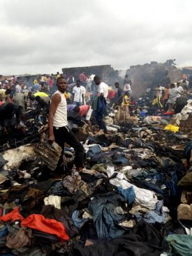 WhatsApp Image 2019 08 19 at 10.19.42 275x367 - Just In: Fire Destroys Katangowa Market In Lagos (Pictures)