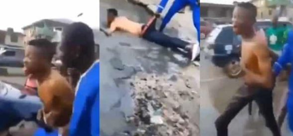 Yahoo Boy Runs Mad In Delta State After Refusing To Sacrifice Mother (Video)