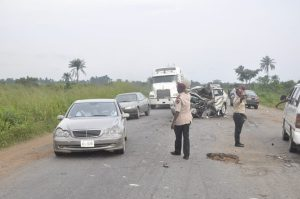 Accident Scene 300x199 - 10 Killed In Fatal Christmas Day Accident In Kwara State