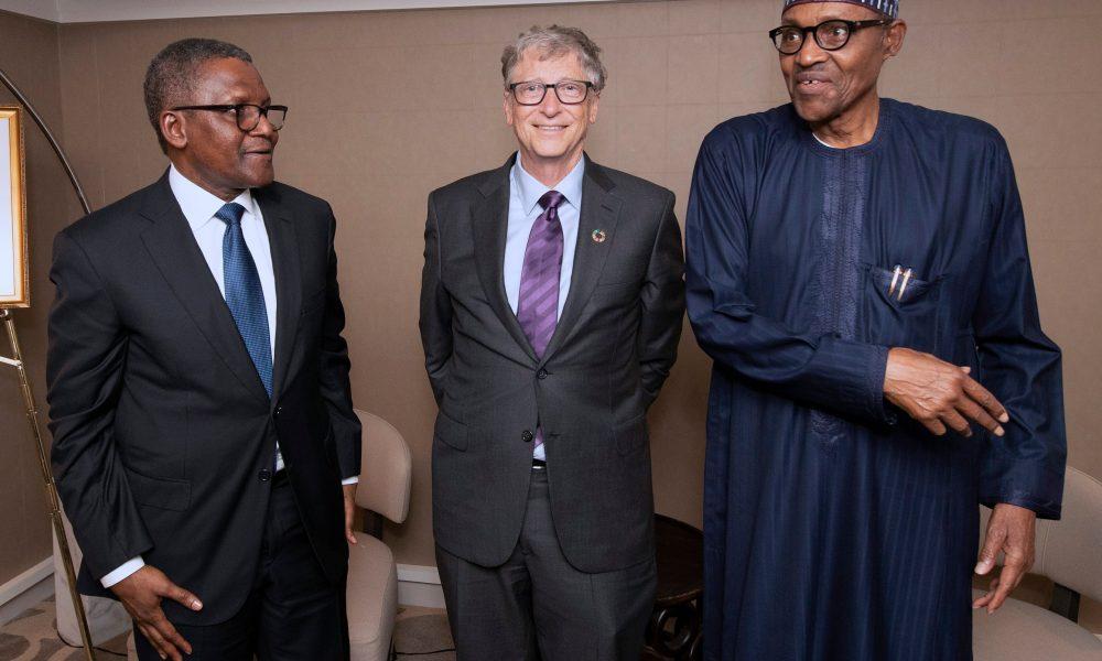Buhari Dangote Bill Gates 1000x600 - President Buhari Sends Message To Bill Gates, Aliko Dangote