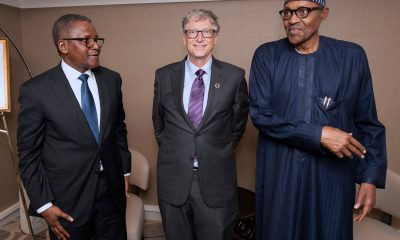 Buhari meets Dangote, Bill Gates in New York