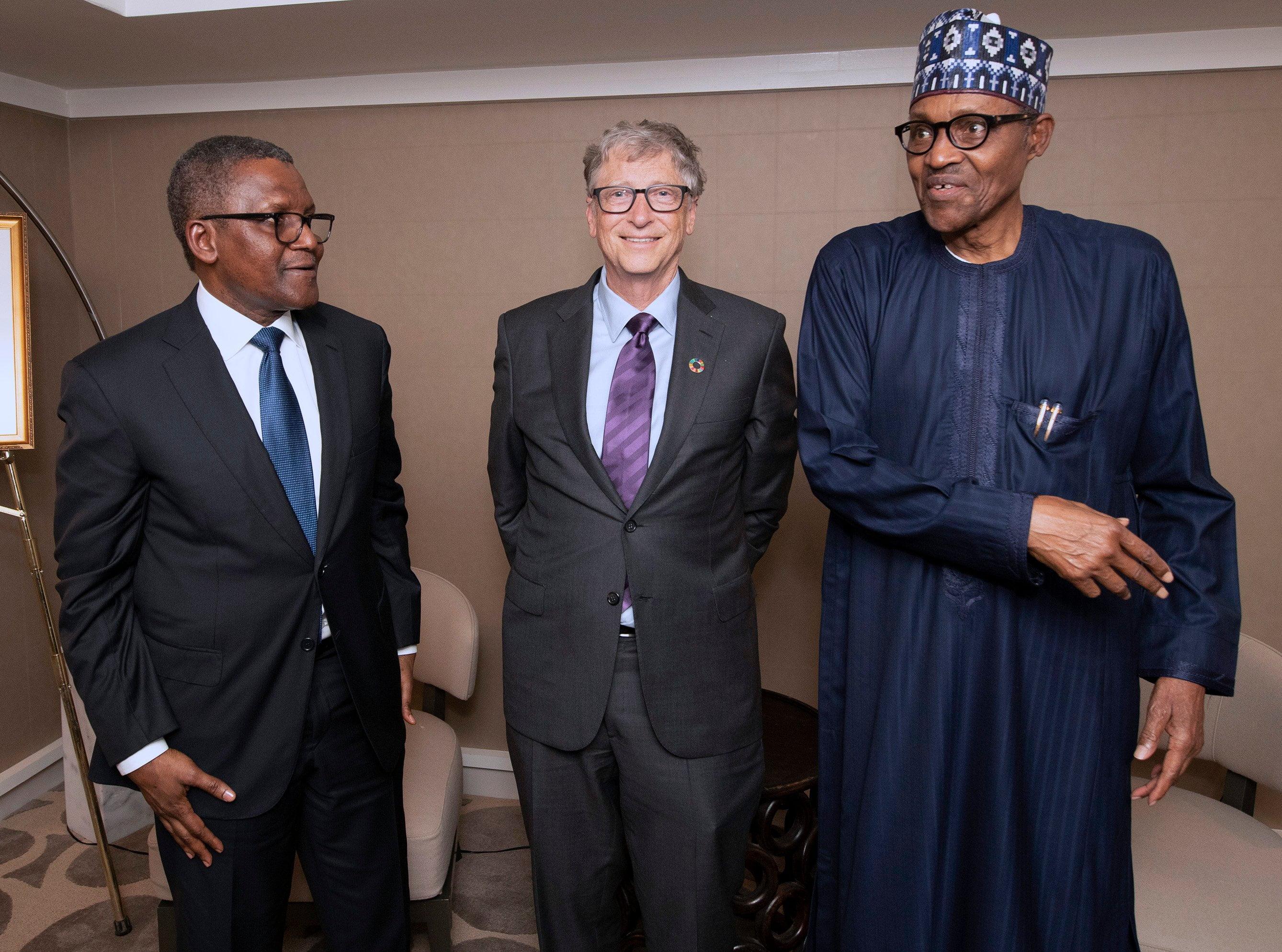 Buhari meets Dangote, Bill Gates in New York