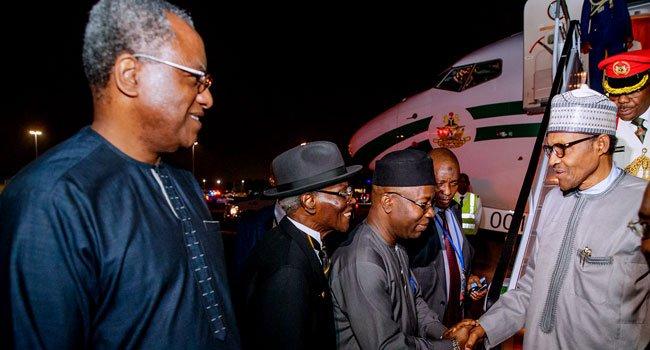 Buhari arrives 2 - President Muhammadu Buhari In New York For UNGA (Pictures)