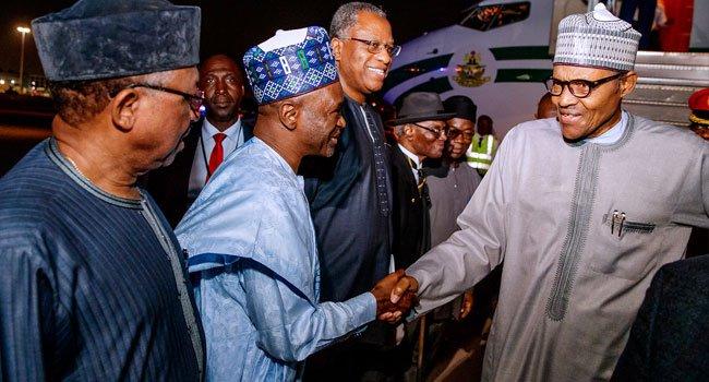 Buhari arrives 4 - President Muhammadu Buhari In New York For UNGA (Pictures)