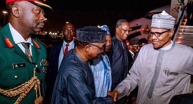Buhari arrives newyork 3 - President Muhammadu Buhari In New York For UNGA (Pictures)
