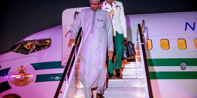 Buhari lands in New York Okay ng 1 750x375 - Next Level: APC Reveals Why Buhari Is Attending UNGA