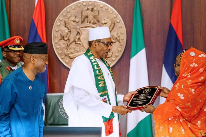 Buhari with NACCIMA - How Closure Of Borders Has Affected Nigeria – Buhari