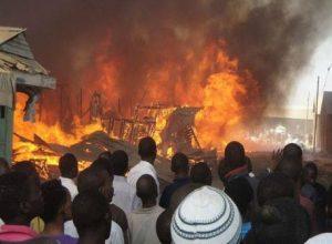 Fire 300x220 - Just In: Fire Guts Popular Mushin Market, Destroys Properties Worth Millions of Naira