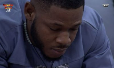 BBNaija: How Frodd Reacted To Esther's Eviction (Photos/Video)